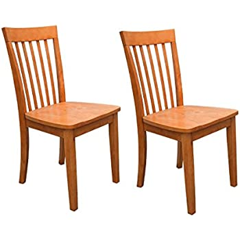 Great Set Of 2 Heavy Duty Solid Wood Dining Room   Kitchen Side Chairs (Maple)