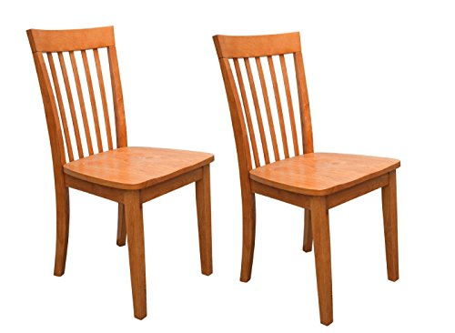 Kings Brand Furniture - Set of 2 Heavy Duty Solid Wood Dining Room - Kitchen Side Chairs (Maple) - Maple Wood Finish Chair
