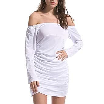 Mini Vestido Ropa de Mujer Sexy Hoja de Loto Ocio Vestido de ...