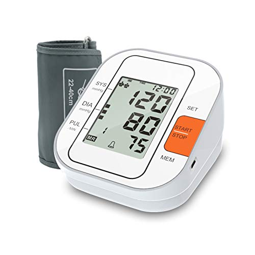 Blood Pressure Monitor, 2020 Upgraded Automatic Upper Arm Digital BP Machine/Pulse Rate Monitoring Meter with Adjustable Wrist Cuff, 2×120 Reading Memory, Large Screen&Talking Function – FDA Approved
