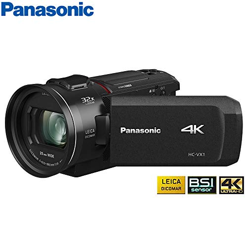 Panasonic HC-VX1K 4K Ultra HD 24x Optical Zoom Camcorder with 25mm Wide Leica Lens – (Certified Refurbished)