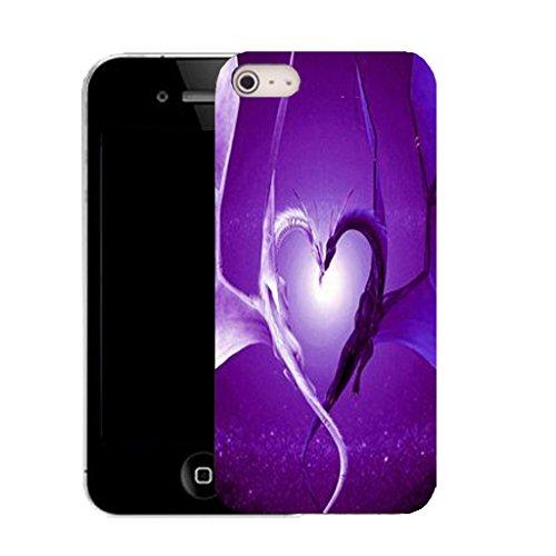 Mobile Case Mate IPhone 4 4S clip on Dur Coque couverture case cover avec Stylet - purple affection Motif