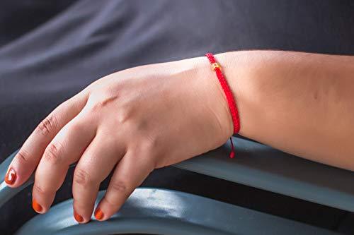 Pulsera de ámbar con hilo trenzado en color rojo de la colección Ala de Ángel