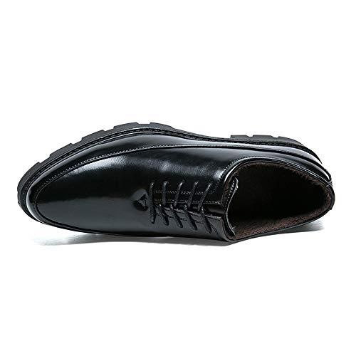 Lavoro Plus Classic in da da Comfort Uomo Cotone Classic Oxford Nero Scarpe Convenzionale Scarpe Opzione da Leisure Cricket 5Rzxw8F8