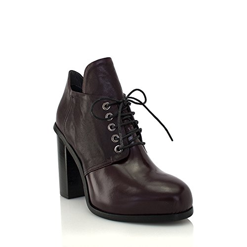AMANDA GREGORY Laceup Ankle Boot Wine 5FKd2O