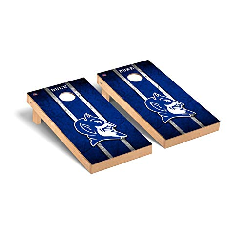 Victory Tailgate Regulation Collegiate NCAA Vintage Series Cornhole Board Set - 2 Boards, 8 Bags - Duke Blue Devils