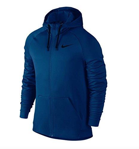 Nike Therma Full-Zip Training Hoodie (2X-Large, Blue Jay/Black)