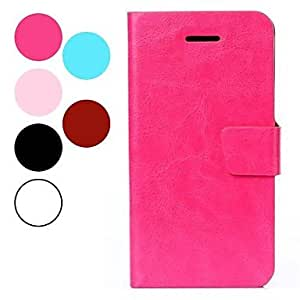 SOL 4.7 inch Simple and Fashion PU Full Body Case with Card for iPhone 6 (Assorted Colors) , Pink
