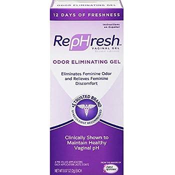 RepHresh Vaginal Gel, Odor Eliminating Gel, 4 ea (Pack of 2)