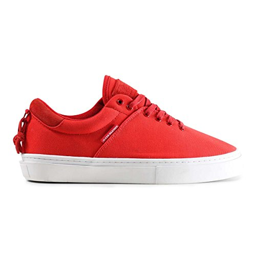 Clear Weather Ninety-Red Cherry Low Top Canvas Sneaker Size 10.5 US Men, 12 US Women