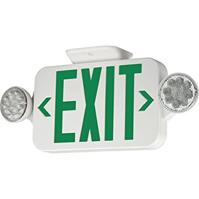 Progress Lighting Progress Lighting PE011-30 2-Light Exit/Emergency Sign with White Finish
