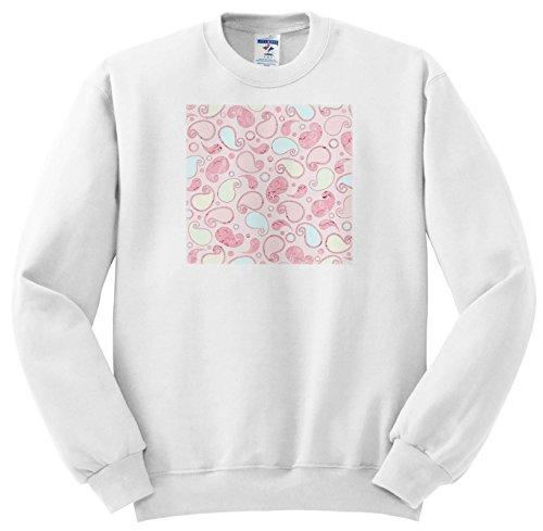 Uta Naumann Pattern - Pink and Light Yellow Paisley Vintage Doodle Pattern - Sweatshirts - Adult Sweatshirt 4XL (SS_267081_7)
