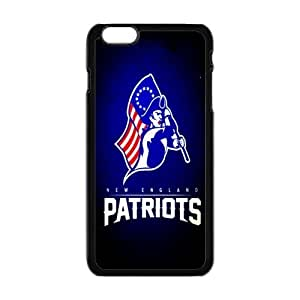 NEW ENGLAND PATRIOTS NFL Classic Design Print Black Case With Hard Shell Cover for Apple iPhone 6 4.7""