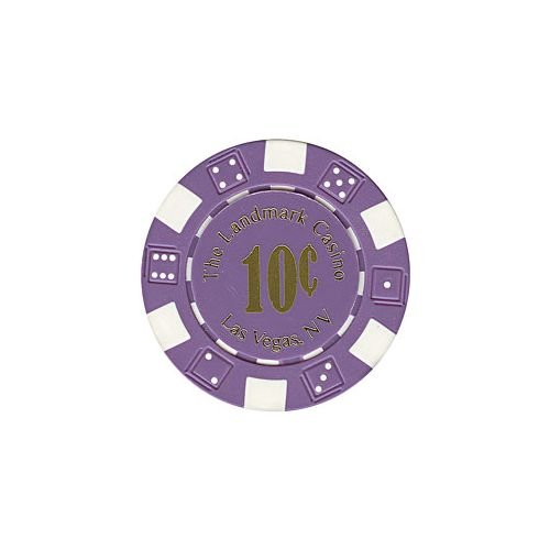 Trademark Poker Landmark Casino 100 Poker Chips (10 Cent), (Landmark Casino Chip)