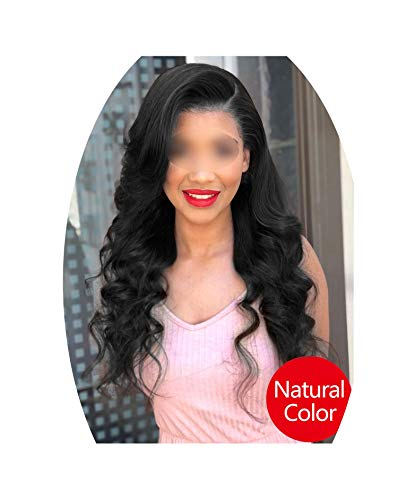 Lace Frontal Wig With Baby Hair Brazilian Body Wave Wig Lace Front Human Hair Wigs For Black Women Remy Hair,Natural Color,24inches,150%]()
