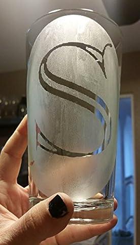 Monogram S Letter Pint Glass Initials Beer Cup - Monogram Pint Glass
