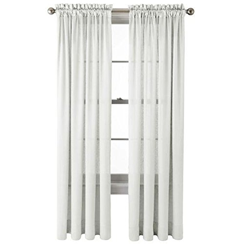 "Hilton Rod-Pocket Curtain Panel 54"" x 63"" - Cool White"