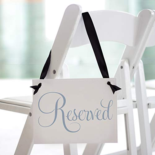 Reserved Chair Sign for Wedding Ceremony or Party in Classic Script Font