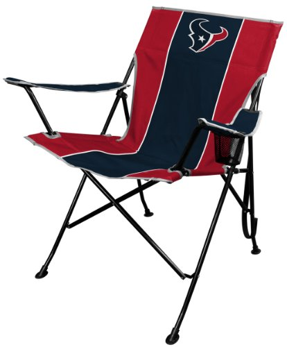 NFL Portable Folding Tailgate Chair with Cup Holder and Carrying (Houston Texans Holder)