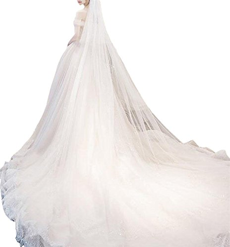Smeiling Womens Off Shouldedr Train Lace Wedding Dresses Elegant Prom Dress 1 XL by Smeiling
