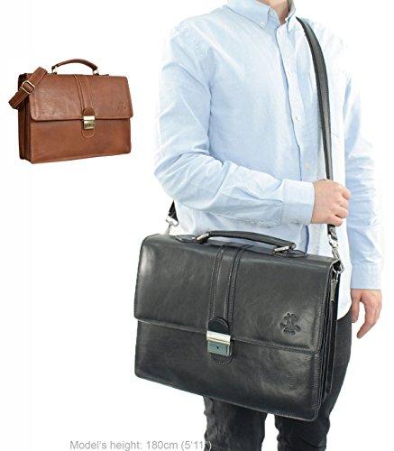 Gusti Leder studio Maxwell borsa ventiquattrore da ufficio elegante documenti marrone 2B33-93-1