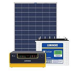 Luminous NXG1800 + LPTT12150H 150Ah 2Nos + 325Watts Solar Panel 2Nos (Poly)