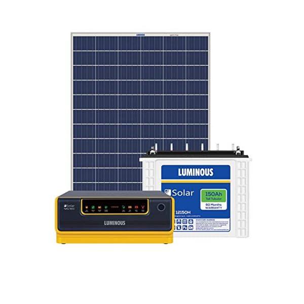 Luminous NXG1800 + LPTT12150H 150Ah 2Nos + 325Watts Solar Panel 2Nos (Poly) 2021 June Luminous NXG1800(Warranty 2 Years) x1 No Luminous 12VLPTT12150H 150Ah 2Nos Warranty 5 Years Luminous Poly Crystalline 325 Watts Panels (Warranty 25 Years) x 2Nos