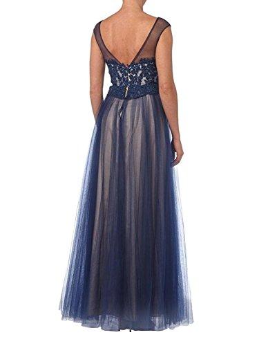 Brautmutterkleider Jugendweihkleider Abendkleider Spitze La Blau Orange Ballkleider Promkleider Dunkel Braut mia gY8AU8n