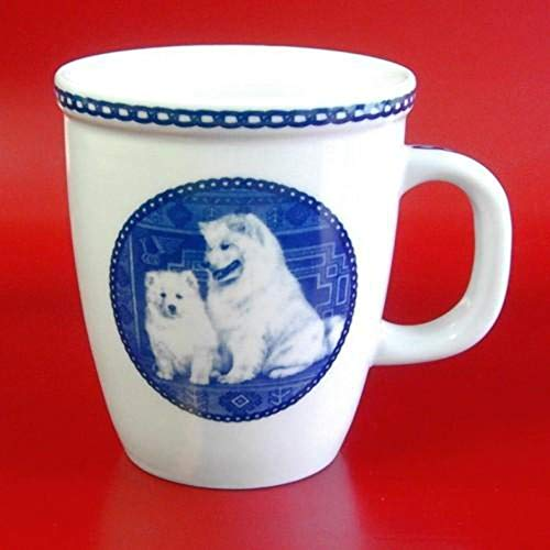 (Samoyed - Porcelain Mug made in Denmark Premium Quality and Design from Lekven. Perfect Gift For all Dog Lovers. Size - 4.2 inches.)