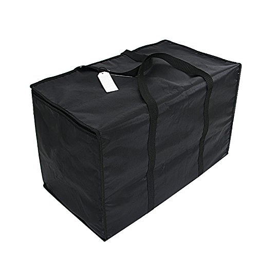 Insulated Nylon Heated Pizza/Food Delivery Bag Black Food Packing Nylon Bag by 23in by 13in by 15inch Black by VCjuice