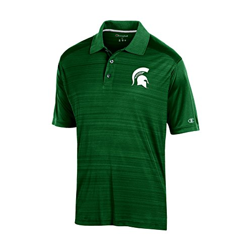 NCAA Michigan State Spartans Adult Men Short Sleeve Colorbocked, Small, Green