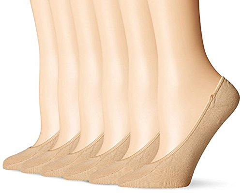 Chaowei Women's Microfiber Ultra Low Cut Liner with Gel Tab, No Show Socks (Pack of 6) (nude)