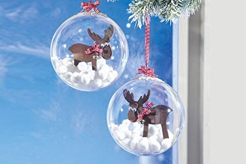 Plastic Ball Ornament, 80mm, Clear , Pack of 12 (80 mm) (80mm) (Clear Ornament Ball)