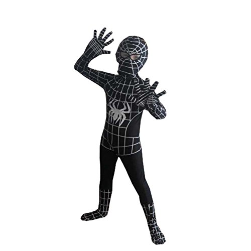[Harry Shops Halloween The Amazing Spider-Man Kids Cosplay Costume] (Black Men Halloween Costume)