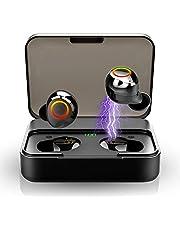 Bluetooth Kopfhörer, Kabellos Kopfhörer Bluetooth 5.0 IPX7 wasserdichte 120H 3D Stereo HD In Ear Kopfhörer mit Mikrofon, Touch-Control, 3000mAh Ladegehäuse, CVC8.0 Sport Ohrhörer für iOS Android