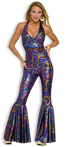 Forum Novelties Women's Dancing Funky Fox 70's Disco Costume, Multicolor, Medium/Large -