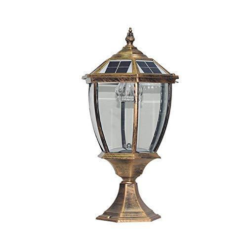 JOYIYUAN Lampada solare a LED per esterni IP65 a luce solare per giardino, recinzione, villa, cortile 8-10 ore di durata (Colore   Copper)