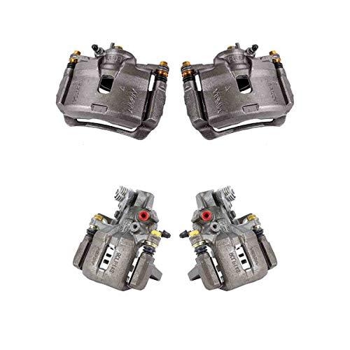 CK01544 FRONT + REAR [ 4 ] Premium Grade Semi-Loaded OE Caliper Assembly Set Kit ()