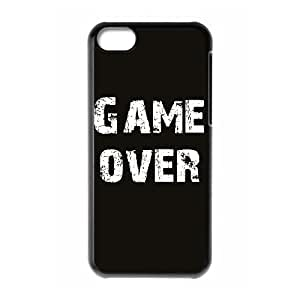 Game Over High Qulity Customized Cell Phone Case for iPhone 5C, Game Over iPhone 5C Cover Case