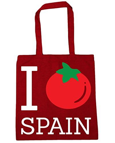 Hippowarehouse I Tomato Spain Shopping Bag Borsa Da Palestra 42cm X38cm, 10 Litri - Classico Rosso, Taglia Unica
