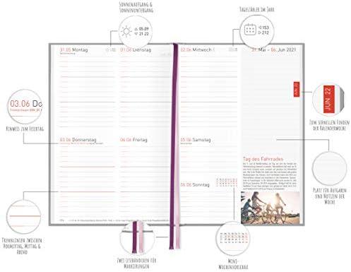Chäff-Timer Classic A5 Kalender 2020/2021 [Peony & Co.] Terminplaner 18 Monate: Juli 2020 bis Dez. 2021 | Wochenkalender, Organizer, Terminkalender mit Wochenplaner - nachhaltig & klimaneutral