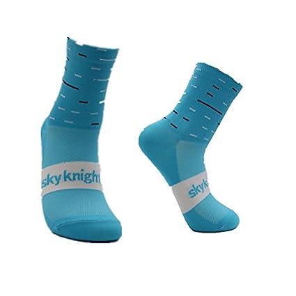 Liyoung Calcetines Ciclismo Ciclismo,Corriendo,Senderismo, Maratón, Triatlón 1 PACK (Blue