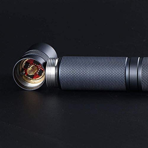 DYB 【Upgraded 】 Flashlights,Gray S2+ with Luminus SST20,DTP Copper Plate,ar-Coated Glass Lens,Biscotti Firmware (Color,Gray,Size,11.8 * 2.41cm),Gray,11.8 * 2.41cm