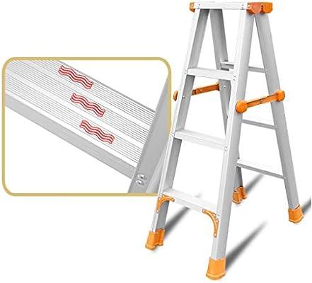JU FU Paso de heces, heces del hogar escalera plegable de aluminio Escalera Trabajo General Perfil Subida General Perfil Escaleras 2 Escalera plegable Escalera plegable Tres Cuatro Cinco Escalera pleg: Amazon.es: Bricolaje