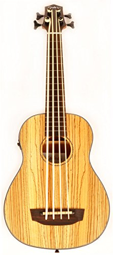 Hadean Acoustic Electric Bass Ukulele UKB-22 FL NM Fretless Uke UBass
