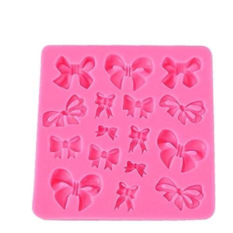 YQWASA Muchos Tipos de moño de Silicona en Forma de Pajarita, Molde de Pastel de Silicona 3D, Herramientas de Pastel de Molde de jabón Figre/Cartoon de ...
