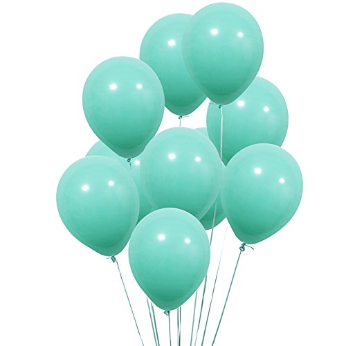 UTOPP 12 in Aqua Blue Balloons Turquoise Thick Latex Balloons for Christmas Decoration Carnival Festival Birthday Party Pack of 100