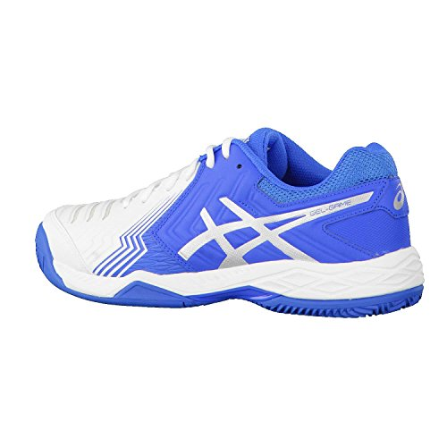White Game de Clay 6 Silver Chaussures Homme Asics Blue Tennis Gel Directoire 5xFBqnwp8U