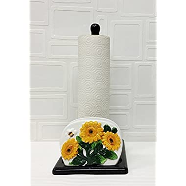 Tuscany 3D Sunflower Paper Towel and Napkin Holder