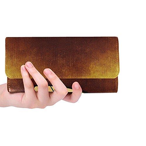 Unique Custom Heart Love Note Greeting Card Women Trifold Wallet Long Purse Credit Card Holder Case Handbag